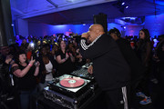 """Rev Run and DJ ruckus perform during the """"Food Network & Cooking Channel New York City Wine & Food Festival Presented By Capital One - 90's Flashback Friday Presented By BACARDI Hosted By Rev Run"""" at Industria on October 12, 2018 in New York City."""