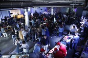 General atmosphere at America's Greatest Sandwich Showdown presented by Goldbelly hosted by Adam Richman and Joe Ariel during the New York City Wine and Food Festival at Highline Stages on October 13, 2019 in New York City.