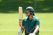 Jesse Ryder of Central Districts acknowledges his half century during the Ford Trophy match between the Central Stags and the Northern Districts at Pukekura Park on February 4, 2017 in New Plymouth, New Zealand.