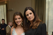 Actress Calu Rivero and Livia Firth  attend a screening of the 'Forever Tasmania' documentary at The New York Edition on May 4, 2018 in New York City.