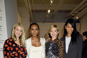 (L-R) Sophie Elgort, Janet Mock, Michelle Williams and Chanel Iman pose at Forevermark Diamonds Females In Focus Photo Exhibition Event on December 6, 2018 in New York City.