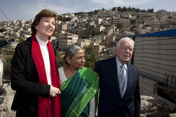 Jimmy Carter Mary Robinson Former U.S President Jimmy Carter And Council of Elders Members Visit East Jerusalem