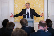 """Former Prime Minister, Tony Blair speaks during a press conference at Admiralty House, where responding to the Chilcot report he said: """"I express more sorrow, regret and apology than you may ever know or can believe on July 6, 2016. in London, United Kingdom. The Iraq Inquiry Report into the UK government's involvement in the 2003 Iraq War under the leadership of Tony Blair was published today. The inquiry, which concluded in February 2011, was announced by then Prime Minister Gordon Brown in 2009 and is published more than seven years later.  Mr Blair said that the report contained """"serious criticisms"""" but showed that """"there were no lies, Parliament and the Cabinet were not misled, there was no secret commitment to war, intelligence was not falsified and the decision was made in good faith""""."""