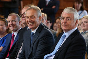 """Sir John Major and Tony Blair attend a Remain campaign at the University of Ulster  on June 9, 2016 in Derry, Northern Ireland. Former British Prime Ministers Sir John Major and Tony Blair travelled to Derry City in Northern Ireland warning that voting to leave the EU could """"jeopardise the unity"""" of the UK. They suggested that it may cause Scotland to re-visit an independence referendum and put Northern Ireland's """"future at risk"""".  Both politicians were instrumental in bringing peace to the region.  The Vote Leave campaign has said the idea that a Brexit could threaten the Northern Ireland Peace Process was irresponsible."""