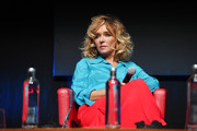 "Valeria Golino attends the ""Fortuna"" Press Conference during the 15th Rome Film Festival on October 19, 2020 in Rome, Italy."