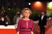 "Valeria Golino attends the red carpet of the movie ""Fortuna"" during the 15th Rome Film Festival on October 19, 2020 in Rome, Italy."