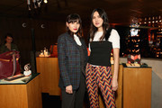 Natalie Suarez and Dylana Suarez attend the Fossil x Austin Mahone holiday event on November 9, 2017 in New York City.