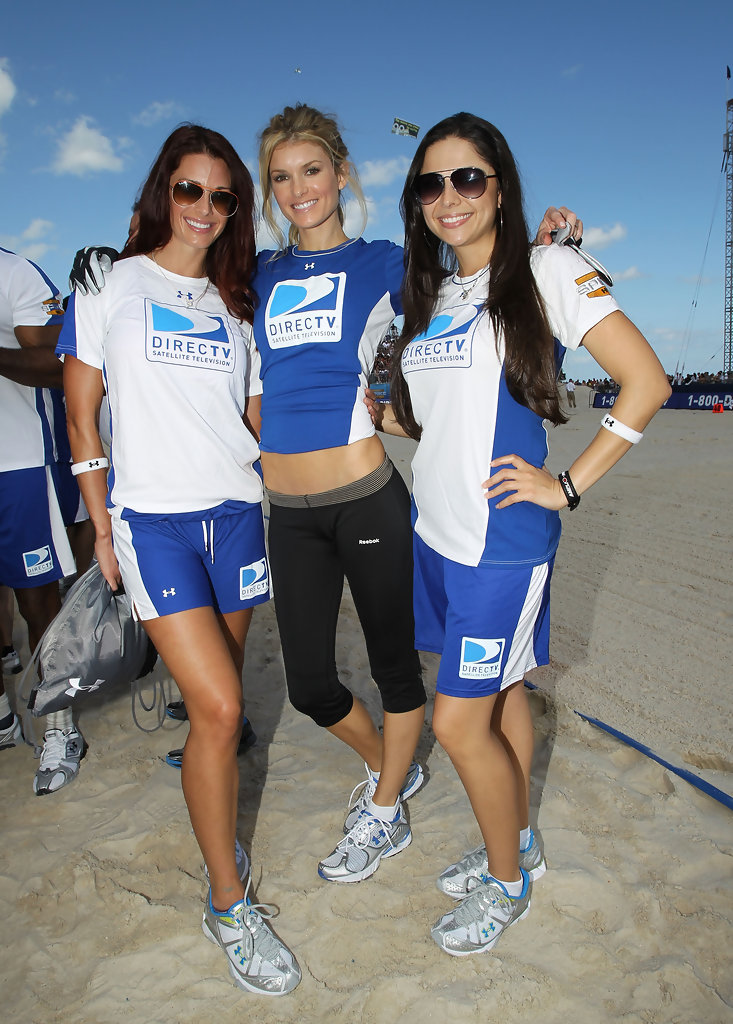 Celebs Suit Up for DirecTV Beach Bowl - YouTube