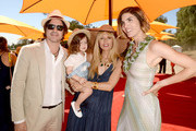(L-R) Rodger Berman, Skyler Morrison Berman, Rachel Zoe and host Delfina Blaquier attend The Fourth-Annual Veuve Clicquot Polo Classic, Los Angeles at Will Rogers State Historic Park on October 5, 2013 in Pacific Palisades, California.