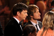 American Idol Judges Harry Connick Jr., and Keith Urban onstage during Fox's 'American Idol' XIII Finale at Nokia Theatre L.A. Live on May 21, 2014 in Los Angeles, California.