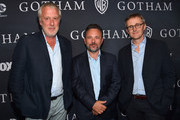 "Executive producers Bruno Heller, Danny Cannon and John Stephens attend Fox's ""Gotham"" Season Finale Screening at Landmark Theatre on April 28, 2015 in Los Angeles, California."