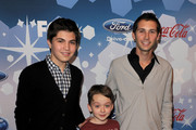 """Actors Matthew Levy, Benjamin Stockham and executive producer Justin Berfield arrive at Fox's Meet the Top 12 """"American Idol"""" finalists held at Industry on March 11, 2010 in Los Angeles, California."""