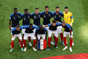 The France players pose for a team photo prior to the 2018 FIFA World Cup Russia Round of 16 match between France and Argentina at Kazan Arena on June 30, 2018 in Kazan, Russia.