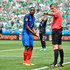 Patrice Evra Photos - Patrice Evra of France argues with a referee during the UEFA Euro 2016 round of 16 match between France and the Republic of Ireland at Stade des Lumieres on June 26, 2016 in Lyon, France. - France v Republic of Ireland - Round of 16: UEFA Euro 2016