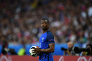 Patrice Evra of France prepares for a throw in during the UEFA Euro 2016 Group A match between France and Romania at Stade de France on June 10, 2016 in Paris, France.