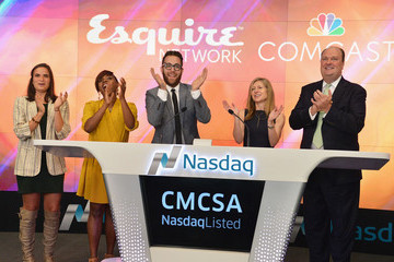 Frances Berwick Esquire Network Rings the Nasdaq Stock Market Opening Bell