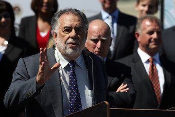 Francis Ford Coppola Jerry Brown Holds Press Conference in SF
