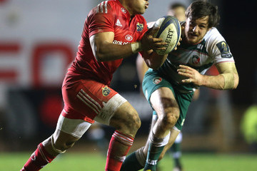 Francis Saili Leicester Tigers v Munster Rugby - European Rugby Champions Cup