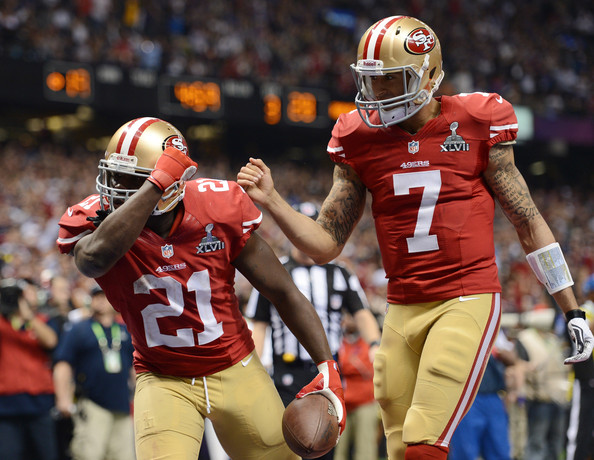Image result for frank gore and colin Kaepernick
