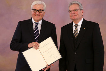 Frank-Walter Steinmeier Joachim Gauck President Gauck Appoints New German Coalition Government