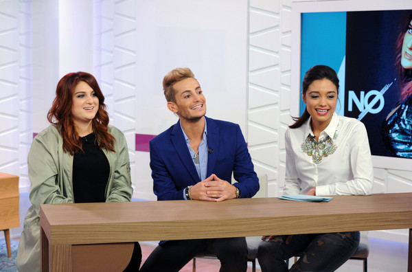 Meghan Trainor Appears on Amazon's Style Code Live [event,businessperson,news conference,adaptation,conversation,employment,management,collaboration,company,business,meghan trainor,rachel smith,frankie grande,style code live,set,new york city,amazon]