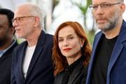 "(L-R) Pascal Greggory, Isabelle Huppert and Ira Sachs attend the photocall for ""Frankie"" during the 72nd annual Cannes Film Festival on May 21, 2019 in Cannes, France."