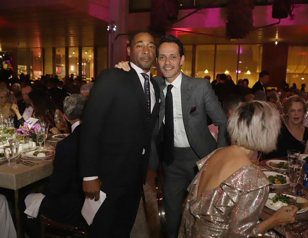 PAMM Art Of The Party Presented By Valentino [event,function hall,formal wear,fun,friendship,ceremony,party,suit,restaurant,wedding reception,pamm art of the party,perez art museum miami,florida,valentino,franklin sirmans,marc anthony]