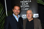 "Bradley Cooper and Robert De Niro attend the ""Freaks And Geeks: The Documentary"" screening during 2018 Tribeca Film Festival at Spring Studios on April 21, 2018 in New York City."