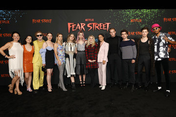 Fred Hechinger Olivia Scott Welch FEAR STREET Part 3: 1666 - Los Angeles Premiere
