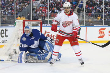 Frederik Andersen 2017 Scotiabank NHL Centennial Classic - Detroit Red Wings v Toronto Maple Leafs