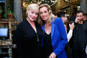 Nightclub owner Amy Sacco (L) and floral designer Frederique Van Der Wal attend the Frederique's Choice US Launch Party at Gallow Green at The McKittrick Hotel on September 29, 2015 in New York City.