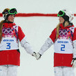Canadian sisters Justine and Chloe Dufour-Lapointe topped the podium in Ladies' Moguls.