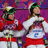 Justine Dufour-Lapointe Photos - (L-R) Chloe Dufour-Lapointe of Canada and Justine Dufour-Lapointe of Canada look on during the Ladies' Moguls Final 3 on day one of the Sochi 2014 Winter Olympics at Rosa Khutor Extreme Park on February 8, 2014 in Sochi, Russia. - Freestyle Skiing - Winter Olympics Day 1