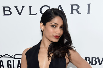 Freida Pinto 25th Annual Elton John AIDS Foundation's Oscar Viewing Party - Red Carpet