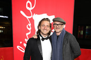 """Guest and Markus Schleinzer attend  the Netflix premiere of """"Freud"""" during the 70th Berlinale International Film Festival Berlin at Zoo Palast on February 24, 2020 in Berlin, Germany."""