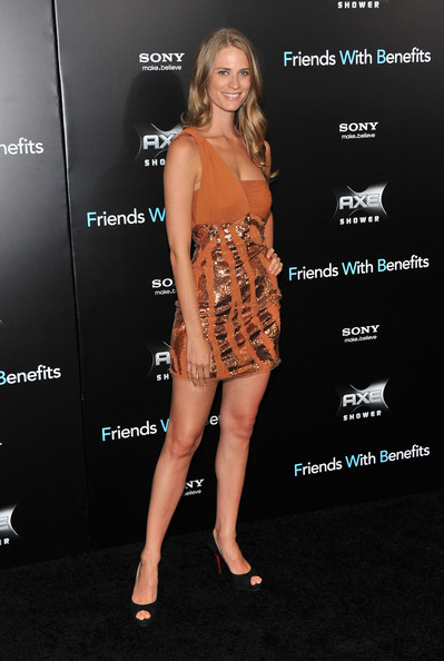 "Model Julie Henderson  attends the ""Friends with Benefits"" premiere at Ziegfeld Theater on July 18, 2011 in New York City."