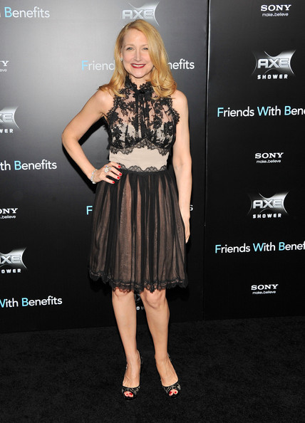 "Patricia Clarkson attends the ""Friends with Benefits"" premiere at Ziegfeld Theater on July 18, 2011 in New York City."