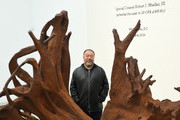 Ai Weiwei attends a photocall during the Frieze London 2019: Ai Weiwei exhibition launch at the Lisson Gallery on October 01, 2019 in London, England.