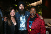 Sarah Harrelson, Waris Ahluwalia and Patrisse Cullors attend the Frieze Project Artist Patrisse Cullors x Summit x Cultured Magazine Dinner at The West Hollywood EDITION on February 13, 2020 in West Hollywood, California.