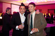 """Executive Producer J.H. Wyham and Seth Gabel attend """"Fringe"""" celebrates 100 episodes and final season at Fairmont Pacific Rim on December 1, 2012 in Vancouver, Canada."""