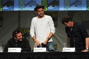 "Writer J.H. Wyman, actors Joshua Jackson and John Noble speak at ""Fringe"" Panel during Comic-Con International 2012 at San Diego Convention Center on July 15, 2012 in San Diego, California."