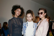 (L-R) Arlissa, Ella Eyre and Wallis Day  attend the Bora Aksu show during London Fashion Week February 2017 collections on February 17, 2017 in London, England.