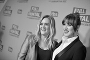Image has been converted to black and white.) Executive Producer Samantha Bee (L) and actor Molly Ringwald attend 'Full Frontal with Samantha Bee' FYC Event Los Angeles at The WGA Theater on May 24, 2018 in Beverly Hills, California.