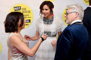 """(L-R) Crissy Guerrero, Minnie Driver, and Dave Foley attend """"Full Frontal With Samantha Bee"""" Not The White House Correspondents Dinner at DAR Constitution Hall on April 26, 2019 in Washington, DC. (Photo by Dimitrios Kambouris/Getty Images for TBS) 558302"""