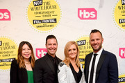 """(L-R) VP Original Programming, TBS Development Jennifer Kim, EVP, Original Programming TBS Brett Weitz, Samantha Bee, and EVP, Original Programming TBS Thom Hinkle attend """"Full Frontal With Samantha Bee"""" Not The White House Correspondents Dinner at DAR Constitution Hall on April 26, 2019 in Washington, DC. (Photo by Dimitrios Kambouris/Getty Images for TBS) 558302"""