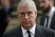 Prince Andrew, Duke of York leaves the funeral service of Patricia Knatchbull, Countess Mountbatten of Burma at St Paul's Church in Knightsbridge on June 27, 2017 in London, England.
