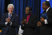 Former President Bill Clinton (left) attendst the funeral of former U.S. Congressman John Conyers Jr. (D-MI) at Greater Grace Temple on November 4, 2019 in Detroit, Michigan. Conyers, who died on October 27 at the age of 90, was the longest serving African American member of the U.S House of Representatives in U.S. history, and the third longest serving House member, having held the office for more than 50 years.