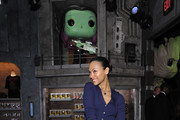 Zoe Saldana attends the Funko Hollywood VIP Preview Event at Funko Hollywood on November 07, 2019 in Hollywood, California.