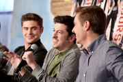 Actors (L-R) Zac Efron, Christopher Mintz-Plasse, and Dave Franco attend Funny Or Die Clubhouse + Facebook Pop-Up HQ @ SXSW - Day 1 on March 8, 2014 in Austin, Texas.