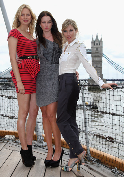 Rachel Nichols Actress's Sienna Miller, Rachel Nichols and Karolina Kurkova pose for a photograph on HMS Belfast after arriving on a Royal Marine RIB during a photocall to launch 'G.I Joe: The Rise of Cobra' on July 22, 2009 in London, England.
